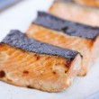 Breakfast menu:Grilled salmon with Saikyo miso sauce